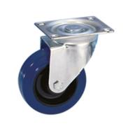 Roulette Guitel pivotante avec platine Flight 100mm bandage resilex
