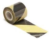 ruban de sécurité rubalise pour signalisation Noir jaune longueur 100m