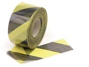 ruban de sécurité rubalise pour signalisation Noir jaune longueur 500m