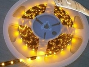 Ruban LED 24V IP65 Blanc chaud 2700K 60 LEDs 3528 par metre Rouleau de 5m