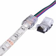 Connecteur pour connecter un câble 4 flis sur un ruban led RGB
