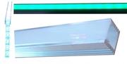 Profilé droit aluminium pour ruban led à encastrer 2 mètres