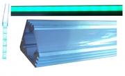 Profilé d'angle aluminium pour ruban led à encastrer 2 mètres