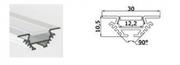 Profilé à encastrer angle ou droit aluminium pour ruban led 2 mètres