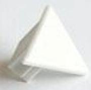 capuchon de terminaison pour profilé d'angle à encastrer aluminium