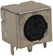 Connecteur vidéo / audio DIN, 6 Contact(s), Femelle, Montage PCB,