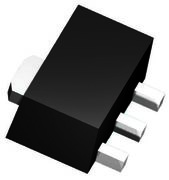 FCX593TA Transistor, PNP, 100 V, 1 A, SOT-89, 3 broches