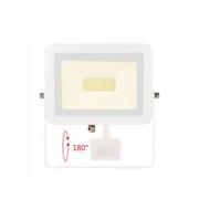 Projecteur Led étanche blanc avec détecteur de mouvement Beneito et faure SKY 50W blanc neutre 4000K 5250 lumens