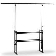 Stand acier noir pour régie DJ ou LJ et support d'éclairage 2,50 X 2,60m