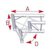 structure alu ASD angle 2 départs latéral SX290 triangulaire ASD ASX22