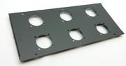 plaque de surface pour TBOX avec 6 perçages pour embase 230V