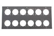 plaque de surface pour TBOX avec 12 perçages pour embase 230V