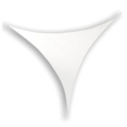 Toile Velum extensible Triangle 250 x 250 cm blanc