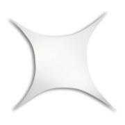 Toile Velum extensible rectangle 500 x 250 cm blanc