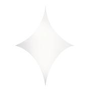 Toile Velum extensible losange 125 x 125 cm blanc