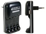 Chargeur d'accu rapide pour NIMH avec sortie USB
