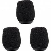 WS-HS1-B Rode - Lot de 3 bonnettes anti-vent et anti-pop noires pour serre tête Rode microphone HS1 ou HS2