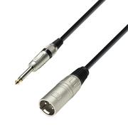 cable XLR 3 mâle vers JACK 6.35 mono mâle 1m noir