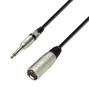 cable XLR 3 mâle vers JACK 6.35 mono mâle 6m noir