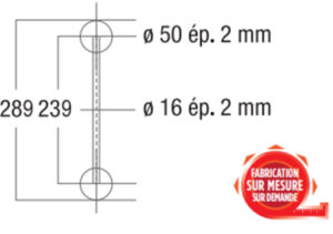 Angle de structure Vertical échelle ASD AEX25V, 135°