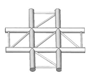 Angle 4 départs en croix de structure Horizontal échelle ASD AEX41