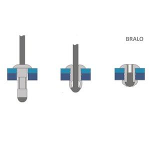 Bralo 55914010 - Rivets Aveugle Multigrip 4,0 x 9,5 mm