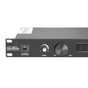 Adam Hall PCL 10 PRO Filtre et régulateur de tension 10A avec voltmètre et ampèremètre, afficheur et éclairage de rack