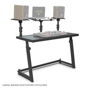 Gravity FDJT 01 Stand table pour studio ou DJ avec support pour enceintes et ordinateur portable