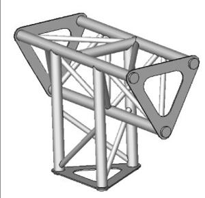 Angle ASD 3d 90° SD150 alu triangulaire ASD1534