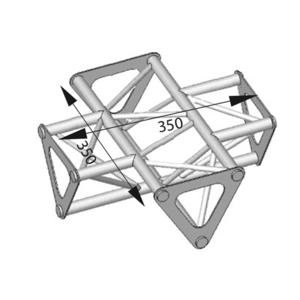 Angle ASD 4d 90° SD150 alu triangulaire ASD1541
