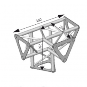 Angle ASD 4d 90° SD150 alu triangulaire ASD1542