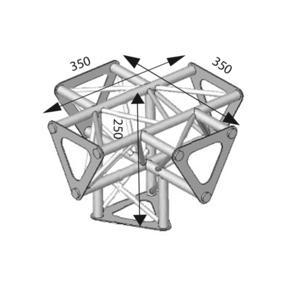 Angle ASD 5d 90° SD150 alu triangulaire ASD1551