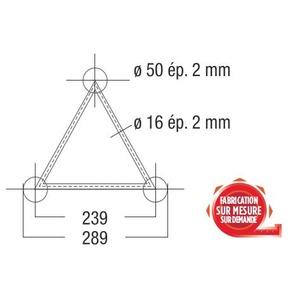 structure alu ASD angle T 3 départs droits SX290 triangulaire ASD ASX34