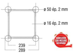 structure carrée ASD ASZ 22 angle 2 départs 90° 290mm