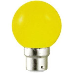 Ampoule sphérique B22 230V 15W jaune opale