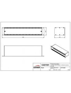 CASY001 Caymon Chassis 12 modules 19 pouces pour montage en rack 2U