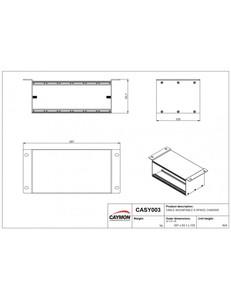CASY003 Caymon Chassis à fixer en surface 6 modules