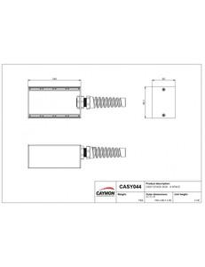 CASY044S Caymon boitier de scène 4 modules avec protection caoutchouc