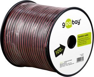 Bobine de 100m de câble haut parleur rouge et noir 2X1mm2 éco