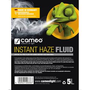 Liquide à brouillard Cameo INSTANT HAZE FLUID 5L Spécial sans huile pour machines à brouillard Cameo