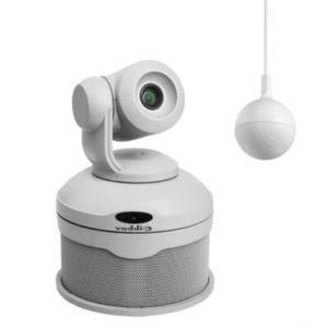 999-99950-101W ConferenceSHOT Vaddio blanc Kit complet pour visio conférence avec 1 Caméra PTZ, 1 socle Haut parleur, 1 micro plafond