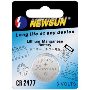Pile lithium CR2477 3V diamètre 24mm épaisseur 7.7mm