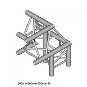 Structure Triangle alu duratruss DT-33 angle 3 départs de 90° avec manchon