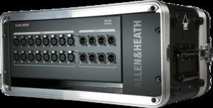 DX168 Allen & Heat boîtier de scène 16 entrées 8 sorties pour consoles SQ dLive