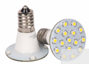 Ampoule Led E14 60V 20 leds pour manège jaune