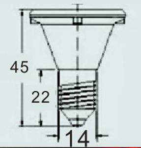 Ampoule Led E14 60V 20 leds pour manège rouge