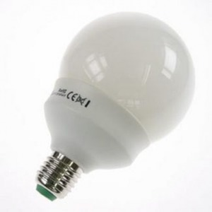 Ampoule Eco E27 20W Globe Blanc chaud