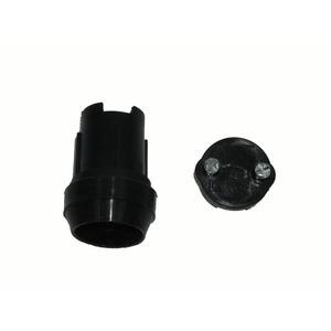 Douille E27 noire avec joints d'étanchéite pour guirlande