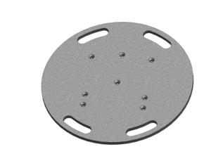 embase lourde ASD EML60 pour structure alu carrée ou triangle 290 diamètre 60 poids 33kg