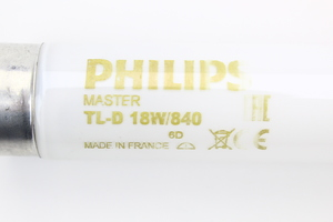 Tube fluo L 18W 840 TL D Philips néon Blanc Standard Luxe code 63171840